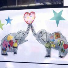 到津の森公園「サリーとラン ラッピングバス」表彰式・出発式